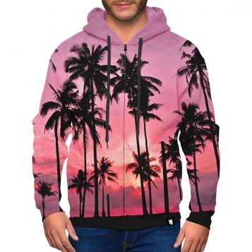Palm Springs Zip-Up Premium Hoodie