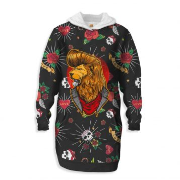 Lion Old School Hooded Dress
