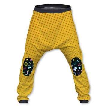 Yellow and Polka Dots Baggy Pant