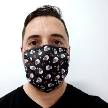 Face Mask Anti Dust Skull Rock