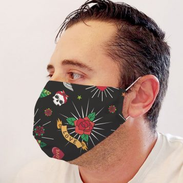 Neoprene Roses Face Mask