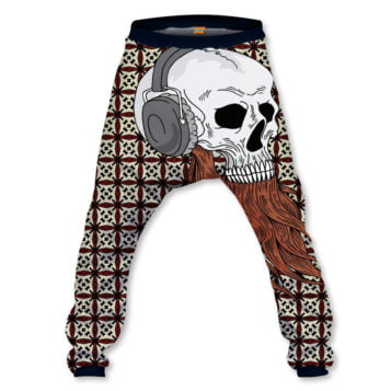 Hipster Skull Baggy Pant